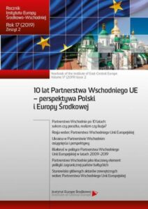 Partnerstwo Wschodnie na łamach polskich dzienników i tygodników opinii (2009-2019)