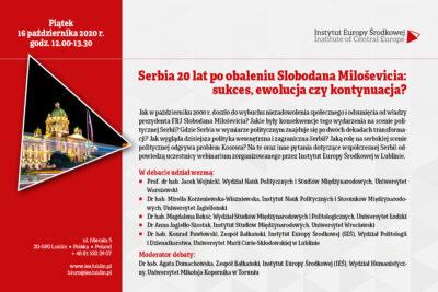 Serbia 20 lat po obaleniu_