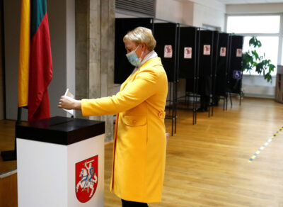 Głosowanie w Trokach na Litwie