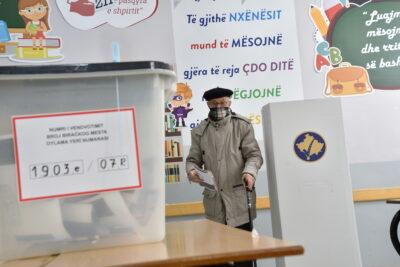 Fot. Wybory parlamentarne w Prisztinie