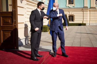 Fot. W. Zełenski i Ch. Michel